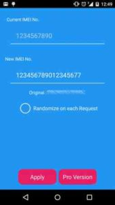 Changed IMEI number