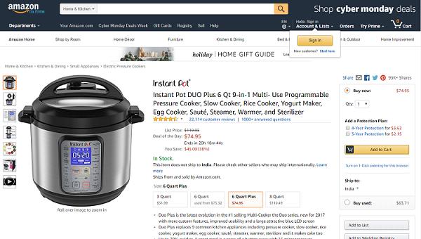 Pressure Cooker - Top Ten Kitchen Gadget