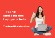 Intel 11th Gen Laptops India