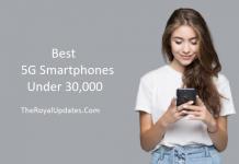 5G Smartphones in India under 30,000